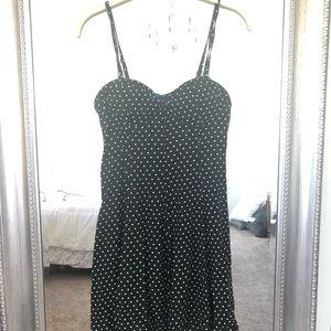 Black and White Polka Dot American Eagle Dress
